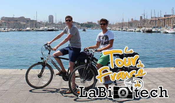 Tour de France LaBiotech : deux passionnés de biotechnologies à vélo