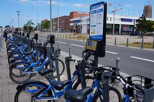 Une station Dk'vélo à Dunkerque