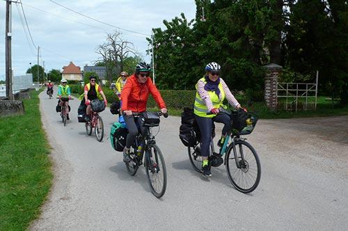 Sortie à vélo avec les Dérailleurs de Caen
