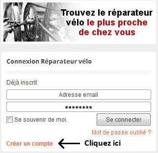 s'inscrire aux réparateurs vélo de France