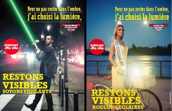 Bordeaux : Une campagne de sensibilisation efficace «En ville; Restons visibles»