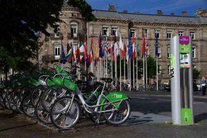 Station Vélhop, le vélo libre service strasbourgeois