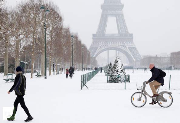 Le déneigement des pistes cyclables encore trop rare