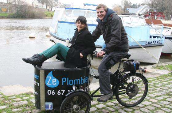 Entrepreneur à vélo mais aussi cyclistes au quotidien