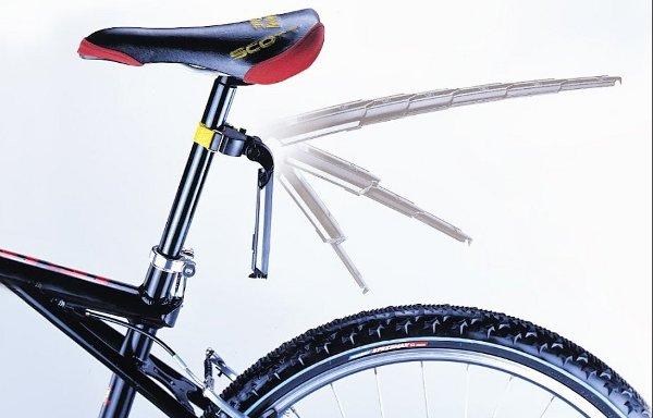 Le garde-boue télescopique pour vélo, c'est «quand je veux, où je veux»