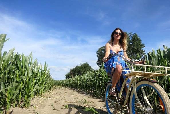 cyclotourisme sur les bords de l'Atlantique