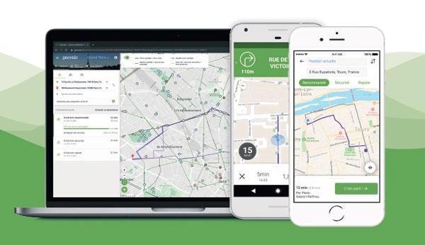Geovelo site web ou application mobile