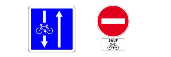 le double sens pour vélo