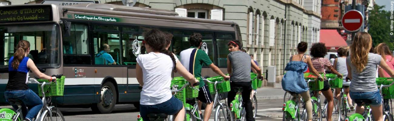 Vélhop, le service de location de vélos de Strasbourg