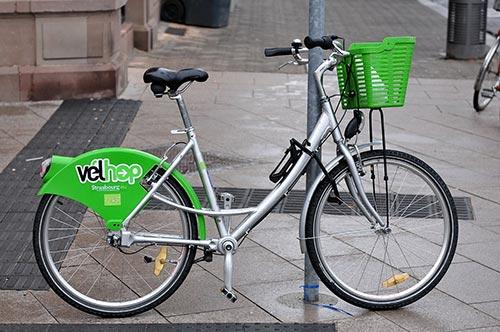 Vélhop, le petit vélo vert strasbourgeois