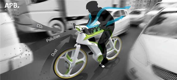 purifier l'air à vélo