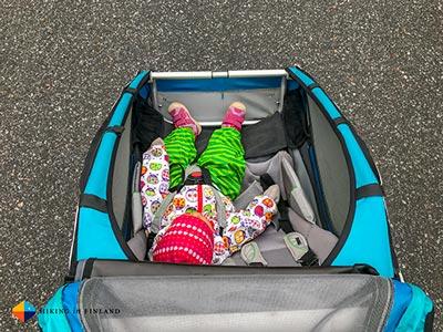 La remorque vélo, idéale pour transporter un bébé