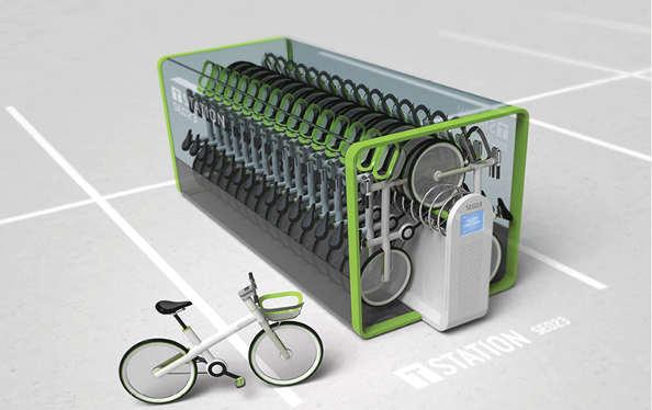 le parking pour 32 vélos