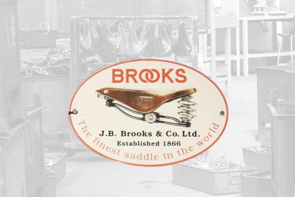L'insigne de la marque Brooks England