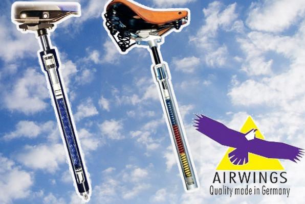 Une suspension optimale à vélo avec les tiges de selle Airwings