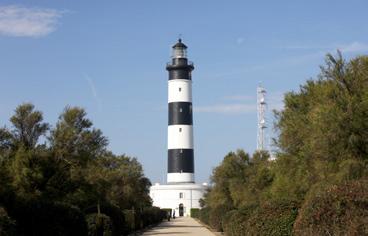 Le phare de Chassiron à la point nord de l'île d'Oléron