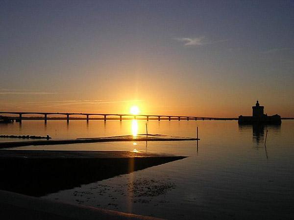 Coucher de soleil sur le Pont d'Oléron