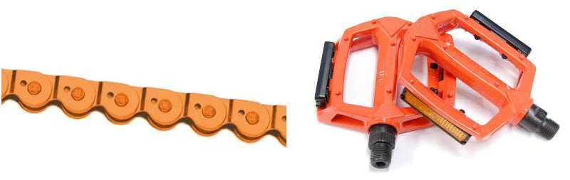 Pièces de transmission vélo orange