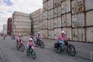 Balade à vélo insolite dans le port du Havre
