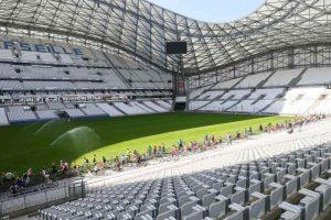 Velotour Marseille dans le stade Vélodrome