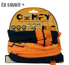 Foulard orange pour cycliste