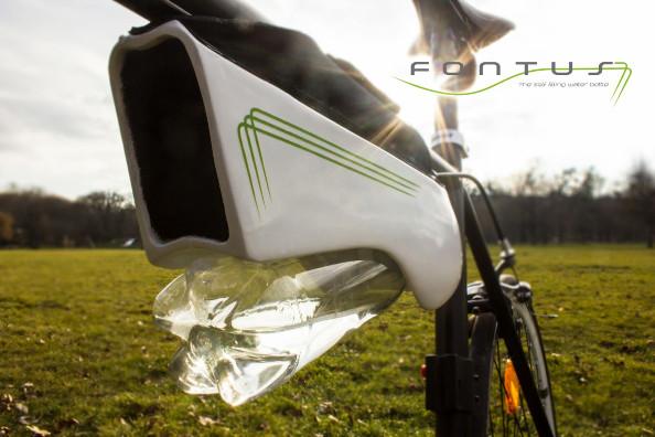 Invention : Fontus une gourde solaire pour vélo avec eau illimitée