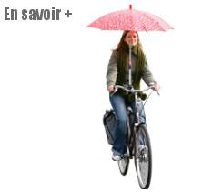 Fixation guidon pour parapluie à vélo