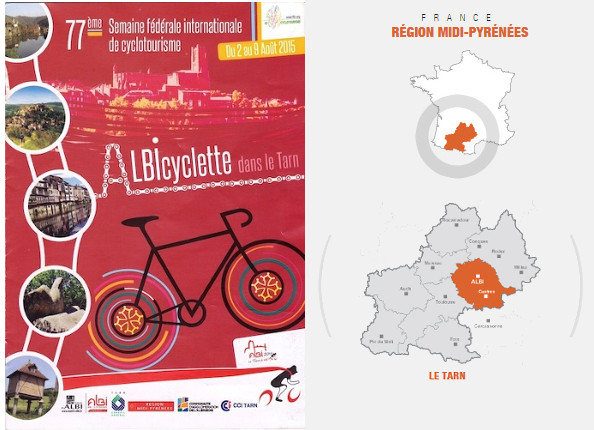 Albi : 77ème semaine fédérale internationale de cyclotourisme du 2 au 9 août 2015