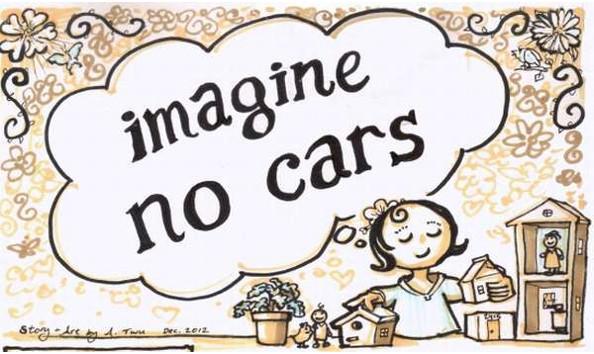 Imagine no cars : une histoire illustrant un monde sans voiture