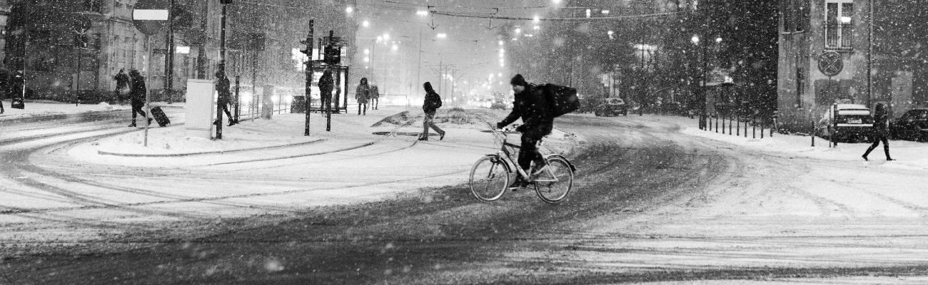 Faire du vélo sous la neige, quelques conseils