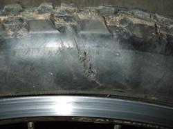 flanc pneu vélo usé