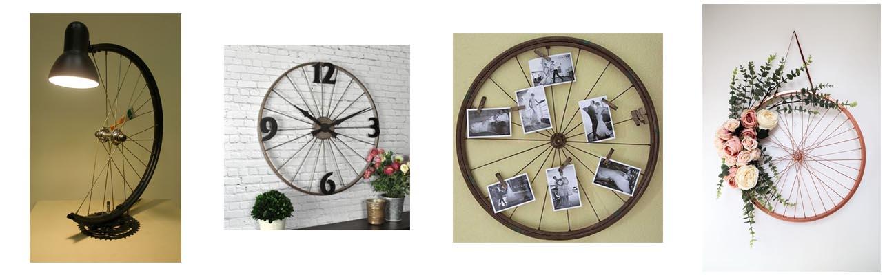 Idée de décoration maison intérieur roue de vélo