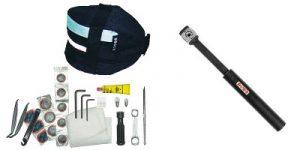 outils, sacoche et pompe velo