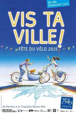 L'affiche de la fête du vélo de Nantes