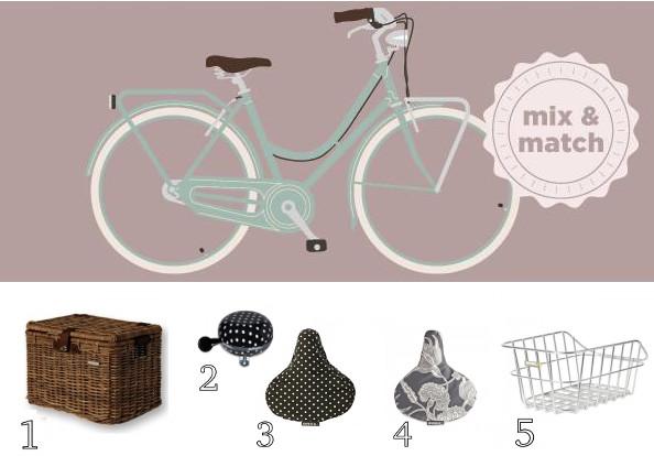 Accessoires vélo à motif