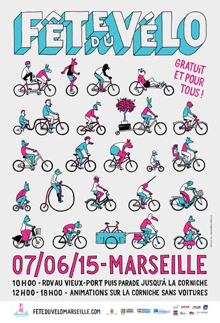 affiche fête du vélo 2015