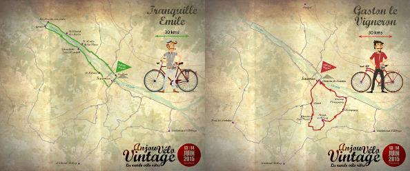 Parcours familles de l' Anjou vélo vintage