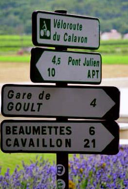 La véloroute du Calavon sur le Luberon à vélo