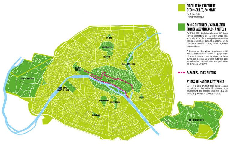Paris sans voiture, circuler dans Paris