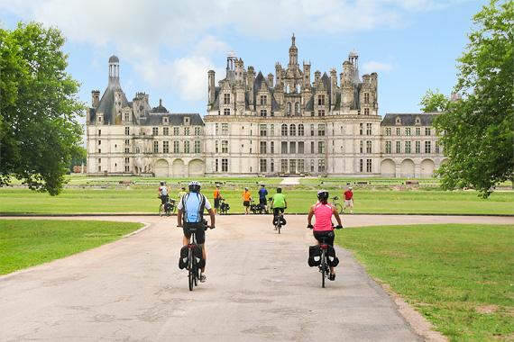 Le château de Chambord, une des merveille de la rando vélo