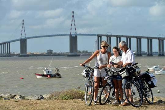 La Loire à Vélo en famille, démarre à l'estuaire de la Loire sur la côte Atlantique, à Saint-Brevin-les-Pins