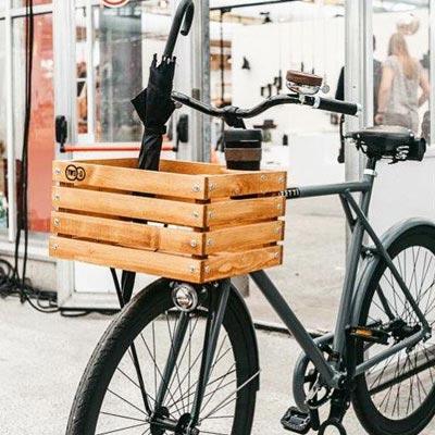 La caisse en bois Two-O, une idée de cadeau écolo pour cycliste