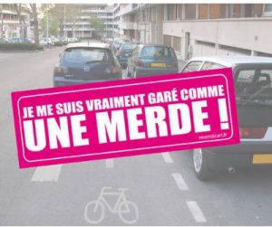 sticker-gare-comme-une-merde_full