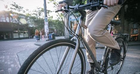 Se faire livrer à manger à vélo
