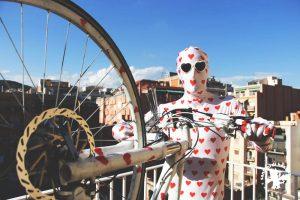 loveman à vélo
