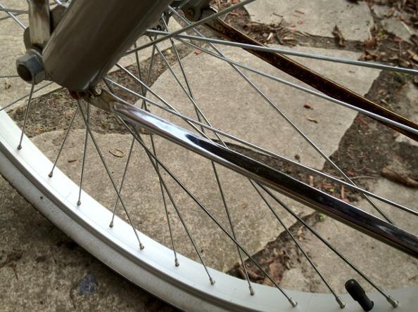 Nettoyer les éléments en chrome de votre vélo