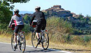 Parcours vélo en toscane