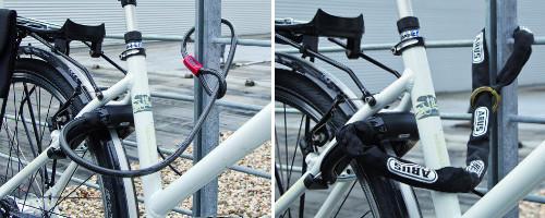 Les câbles et chaînes à coupler à l'antivol de cadre
