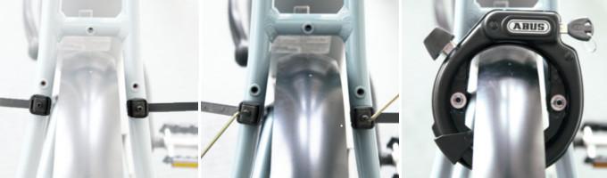 Colliers de serrage pour fixer antivol sur vélo sans trou fileté