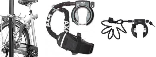 les antivols de cadre avec chaînes et câbles AXA